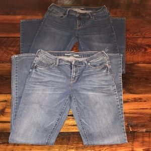 Two pair of Old Navy Mid-Rise Jeans